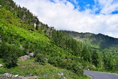 Scenics on Uttarkashi-Gangotri Highway, Uttarkashi, India. Uttarkashi-Gangotri Highway is full of scenic beauty. This is a photograph of picturesque landscape on Stock Photography