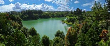 Scenics van het panorama van meer Lido royalty-vrije stock foto
