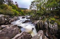 Sceniczna Braklynn siklawa w Szkocja Obraz Stock