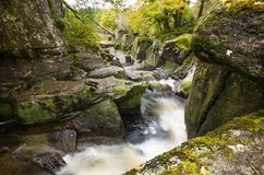 Sceniczna Braklynn siklawa w Szkocja Zdjęcia Royalty Free