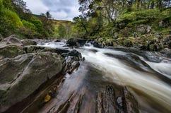 Sceniczna Braklynn siklawa w Szkocja Zdjęcia Stock