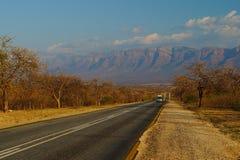 Sceniczna droga w Drakensberg okręgu, Południowa Afryka zdjęcia stock