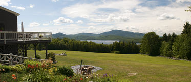Sceniczna góry i jeziora panorama Zdjęcie Royalty Free