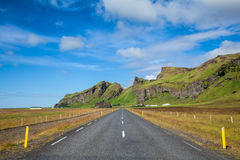 sceniczna Iceland droga Obrazy Royalty Free