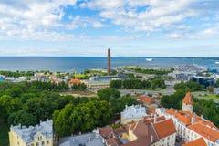 Sceniczna lato panorama miasto Tallinn, Estonia zdjęcia royalty free