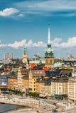 Sceniczna lato sceneria Stary miasteczko w Sztokholm Obraz Royalty Free