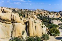 Sceniczna Olbrzymia skała w Joshua drzewa parku narodowym fotografia royalty free