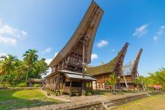 Sceniczna tradycyjna wioska w Taniec Toraja Obraz Stock