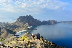 Sceniczna widoku Padar wyspa Fotografia Stock