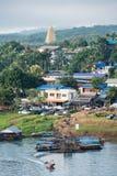 Sceniczna wiejska tradycyjna wioska w sangkhlaburi Zdjęcia Stock