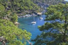 Sceniczna zatoka blisko Marmaris, Turcja Zdjęcie Royalty Free