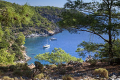 Sceniczna zatoka blisko Marmaris, Turcja Obrazy Stock