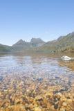 Sceniczne krajobrazowe Kołysankowe góry Tasmania Fotografia Stock