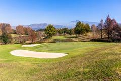 Sceniczne pole golfowe góry Obraz Stock