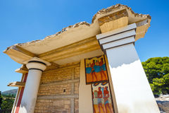 Sceniczne ruiny Minoan pałac Knossos zdjęcie stock