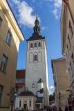 24-27 08 2016 Scenicznego lata linii horyzontu pięknych powietrznych panoram Stary miasteczko w Tallinn, Estonia Fotografia Stock