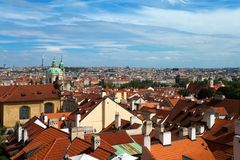 Panorama Praga, republika czech Zdjęcia Royalty Free