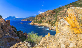 Sceniczni krajobrazy Corsica Zdjęcie Royalty Free