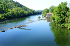 Sceniczni południe Francja krajobraz zdjęcia stock