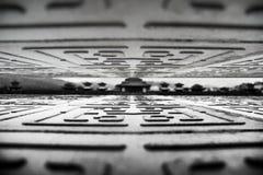 Sceniczni punkty w Hengdian, czarny i biały budynki Zdjęcie Royalty Free