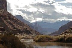 Sceniczni Utah krajobrazy w łuku parku narodowym zdjęcie royalty free