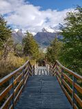 Sceniczni widoki Glaciar Perito Moreno, El Calafate, Argentyna zdjęcie stock