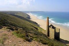 Sceniczny Cornwall, St Agnes głowa Zdjęcie Royalty Free