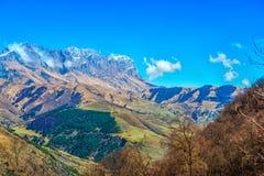 Sceniczny góra krajobraz strzelał Kaukaz, podróży tło Fotografia Royalty Free