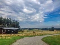 Sceniczny krajobraz na śladzie Washpen Spada, Południowa wyspa, Nowa Zelandia fotografia stock