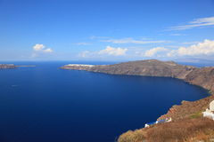 Santorni wyspa obraz royalty free