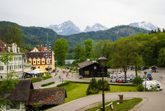 Sceniczny krajobraz w terenie grodowy Hohenschwangau w Bavaria Obrazy Royalty Free