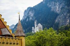 Sceniczny krajobraz w terenie grodowy Hohenschwangau w Bavaria Zdjęcie Royalty Free