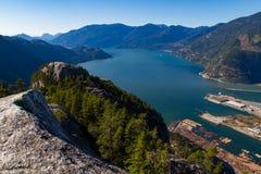 Sceniczny krajobrazowy widok Howe dźwięk zdjęcie stock