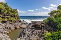 Sceniczny Maui wybrzeża krajobraz Obraz Stock