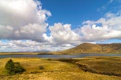 Sceniczny natury connemara krajobraz od zachodu Ireland Zdjęcie Stock