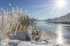 Sceniczny panorama widok idylliczna desantowa scena zdjęcie stock