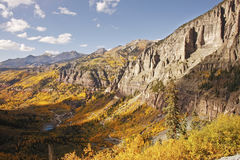 Sceniczny pobliski Telluride, Uncompahgre las państwowy, Kolorado Obraz Royalty Free