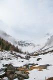 Sceniczny pocztówka widok sławny miejsce, Grossglockner góra z chmurą & mgła, Austria Fotografia Royalty Free