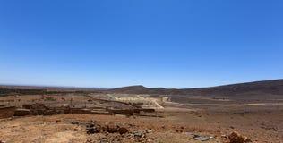Sceniczny pustynia krajobraz w Maroko Fotografia Royalty Free