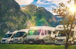 Sceniczny RV parka camping Zdjęcia Stock