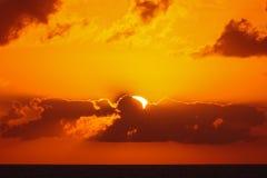 Sceniczny seascape zmierzch esencja nieba zdjęcie stock