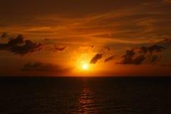 Sceniczny seascape zmierzch esencja nieba zdjęcia royalty free