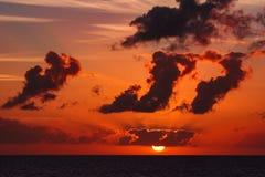 Sceniczny seascape zmierzch esencja nieba obraz royalty free