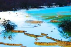 sceniczny terenu huanglong Obraz Royalty Free