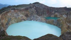 Sceniczny Trzy Barwionego jeziora Kelimutu, Ende Obraz Royalty Free