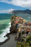 Sceniczny Vernazza, Włochy Zdjęcie Stock