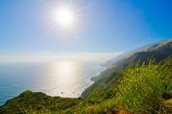 Sceniczny Vista na Kalifornia stanu trasie 1 Obraz Royalty Free