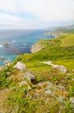 Sceniczny Vista na Kalifornia stanu trasie 1 Zdjęcie Royalty Free