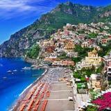 Sceniczny Włochy, Positano - obrazy stock