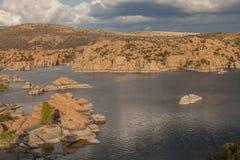 Sceniczny Watson jeziora krajobraz Zdjęcia Royalty Free